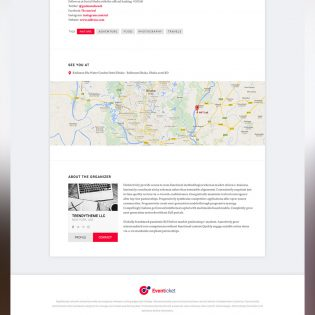 Event Landing Page Template Free PSD