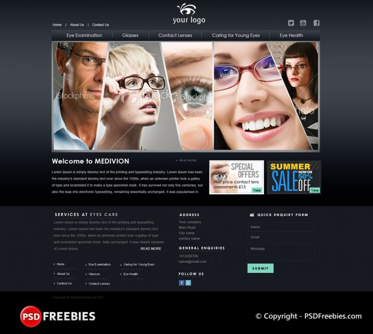 Eyes Care Center PSD Template www Website Template Website Layout Website webpage Web Template Web Resources web page Web Layout Web Interface Web Elements Web Design Web User Interface unique UI Template Stylish Simple Shop Resources Quality Psd Templates pack original optical online shopping new Modern Fresh eyes center eyes Elements e-commerce detailed Design Dark Theme Dark Creative Corporate company Clean