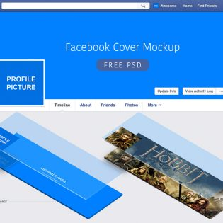 Facebook Cover Mockup Free PSD