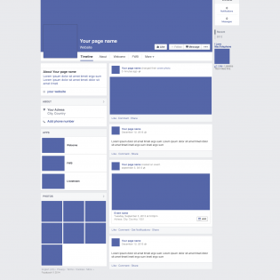 Facebook Page Redesign 2014 Mockup PSD