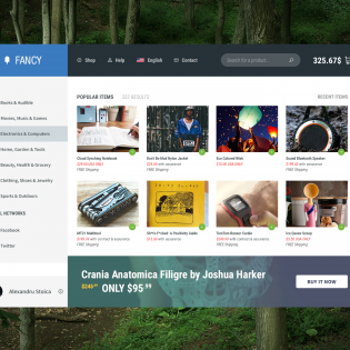 Fancy Shopping Website PSD Template
