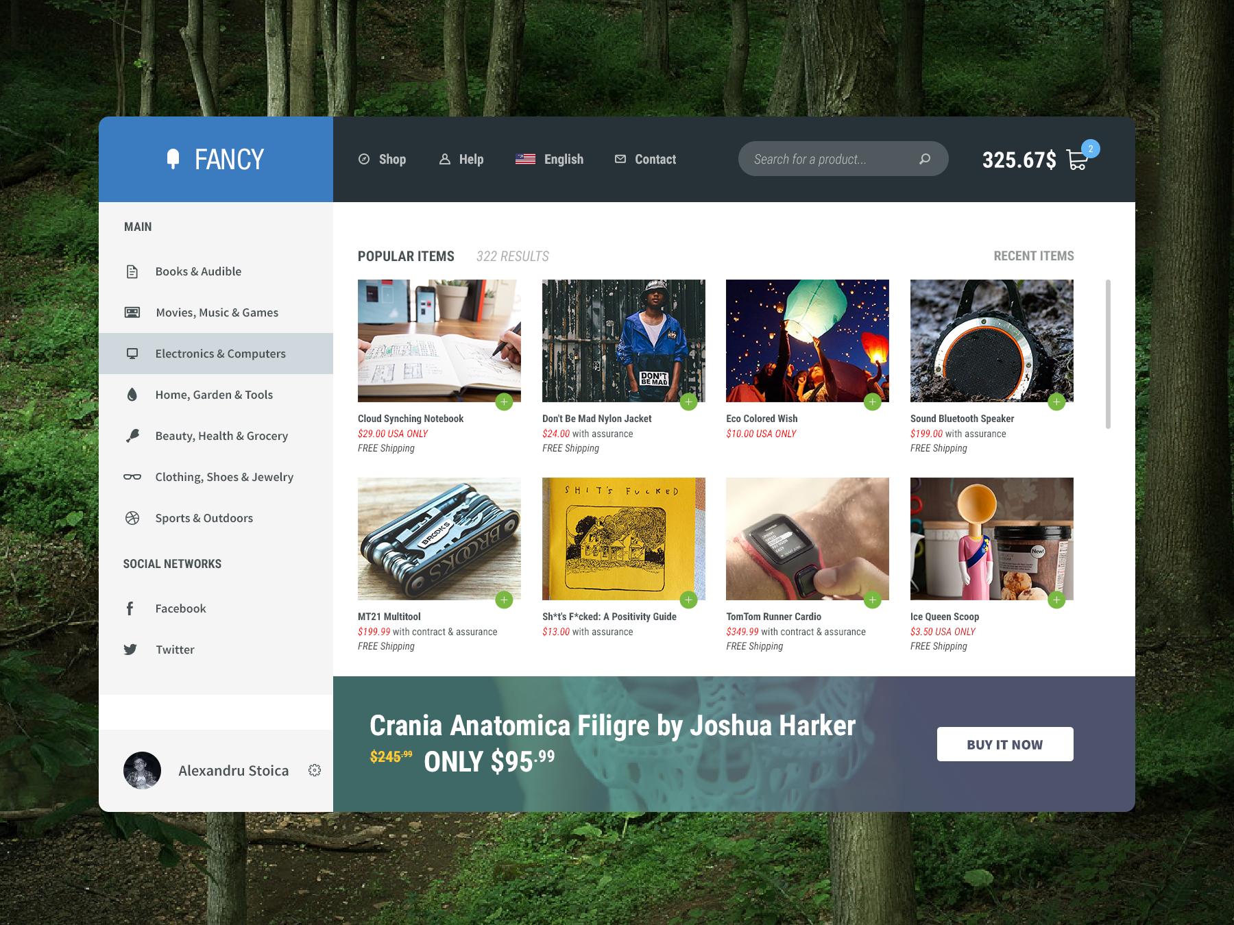 Fancy Shopping Website PSD Template