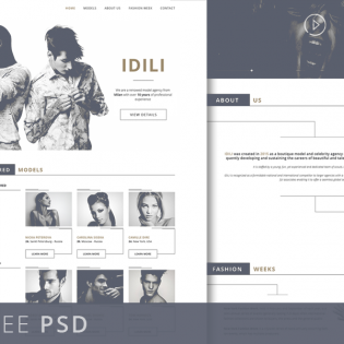 Fashion Agency Website Template PSD Freebie