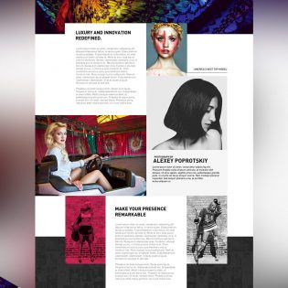 Fashion Blog Website Free PSD Template