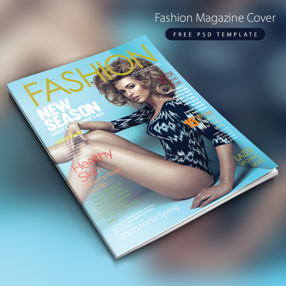 Fashion magazine cover free psd template download for Fashion designing templates free download