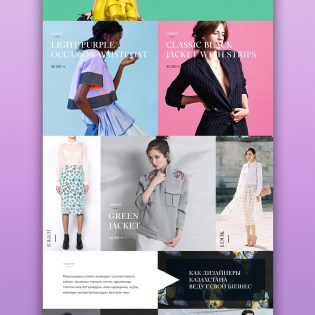 Fashion Store Website Template Free PSD