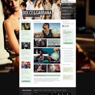 Fashion Website Free PSD Template