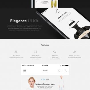 Fashion eCommerce Shopping App UI Kit Free PSD