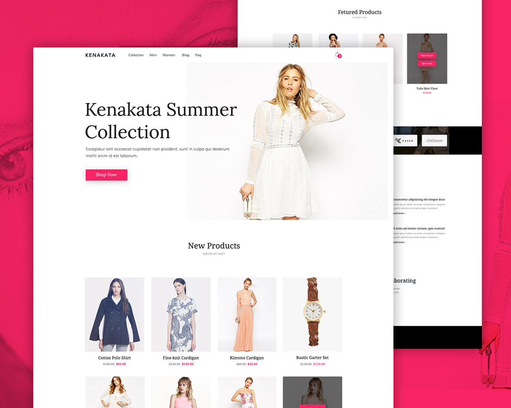 Fashion eCommerce Website Free PSD Template - Download PSD