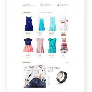 Fashion eCommerce Website Templates Free PSD