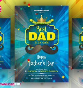 Fathers Day Flyer Template Free PSD