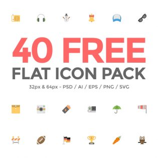 Flat Icon Pack Free PSD