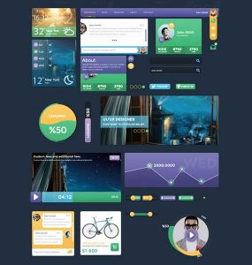 Flat Metro Style Web UI Elements Kit windows 8, weather, ui set, ui kit, UI elements, UI, Profile, Navigation, metro, Loader, graph, free download, Free, Flat, designer,