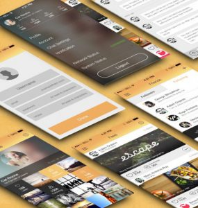 Flat Mobile App UI Kit Free PSD yellow, Web, User Interface, User, unique, ui set, ui kit, UI elements, UI, Talk, Stylish, simple clean, retina, Resources, Resource, register, Quality, PSD, Profile, Picture, pack, original, Orange, new, Modern, Mobile, Login, Interface, Instagram, insta, GUI Set, GUI kit, GUI, Graphical User Interface, Gallery, full app, Fresh, Freebie, Free PSD, Free, follower, Follow, Flat, Elements, Download, detailed, Design Resources, Design Elements, Design, Dark, Creative, conversation, Clean, chat, Application, app design, App,