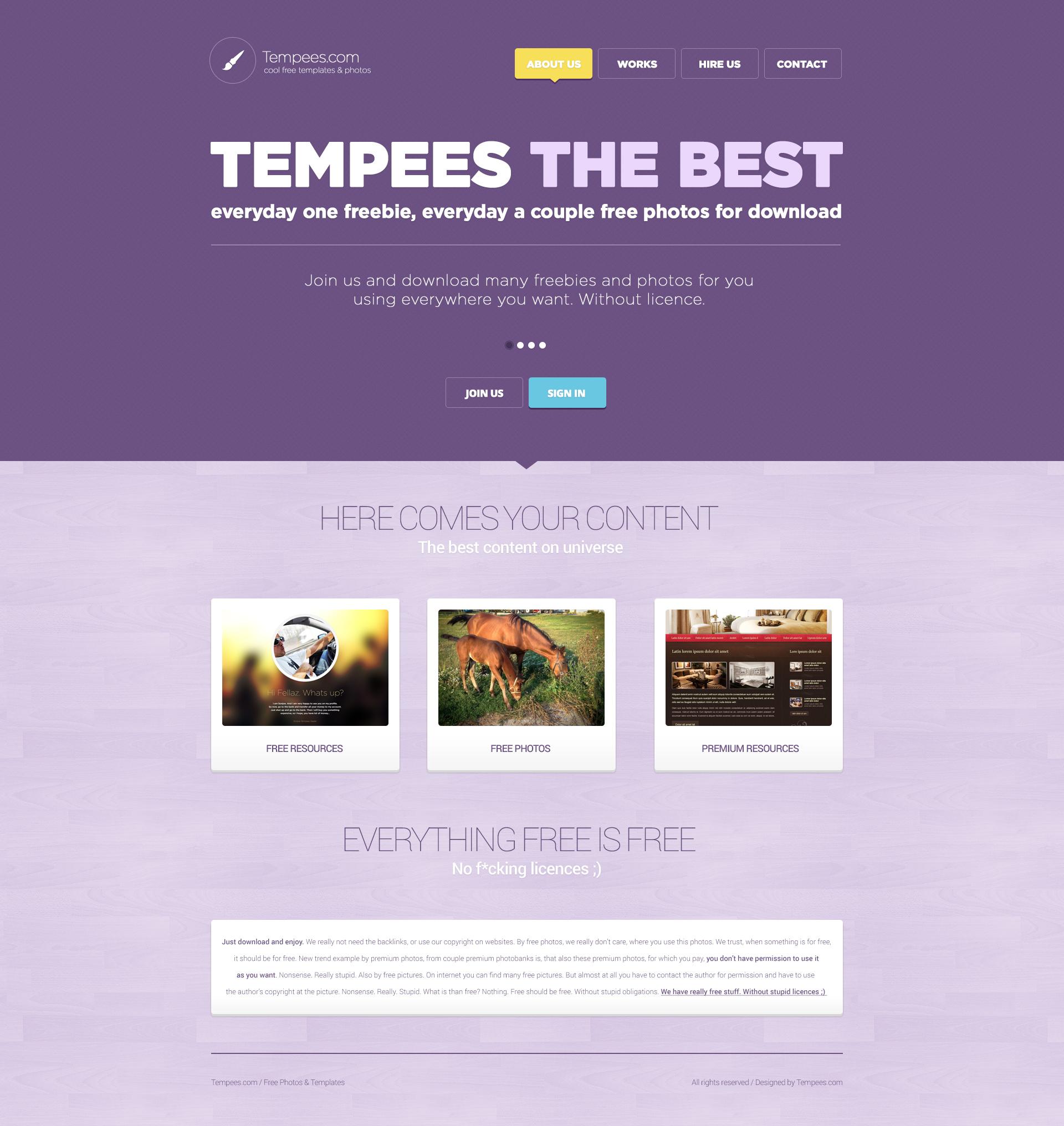 Flat Purple Tone Landing Page PSD
