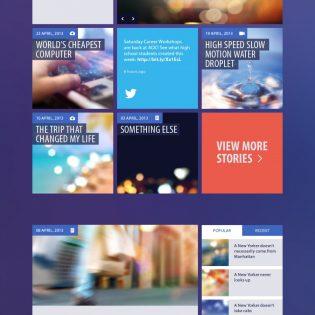 Flat UI Kit PSD for Blog and Magazine