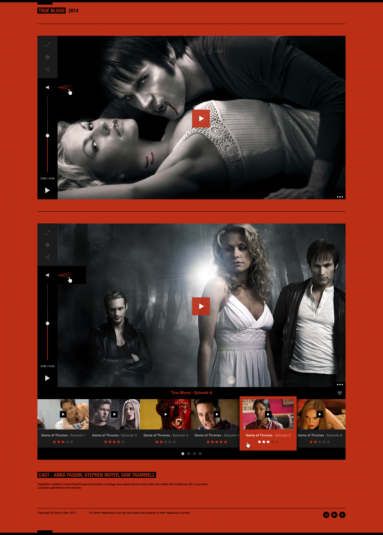 Flat Video Player Gallery Free PSD file