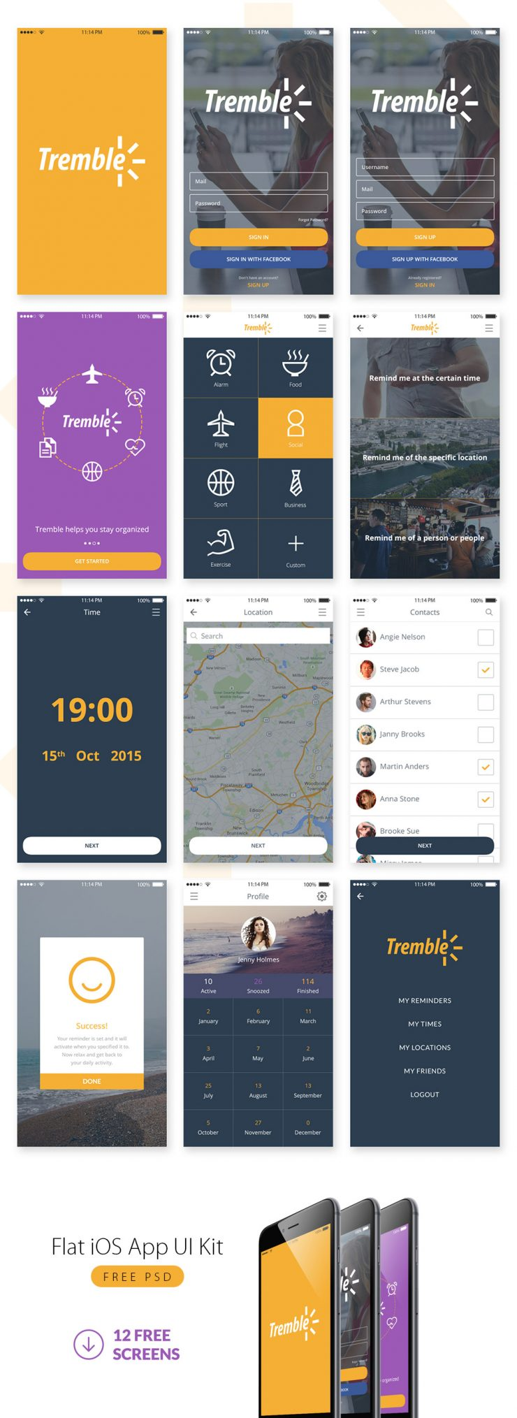 Flat iOS App UI Kit Free PSD yellow, Web Resources, Web Elements, Web Design Elements, Web, UX, User Login, User Interface, unique, ui set, ui kit, UI elements, UI, Stylish, SignUp, signin, Resources, reminder, Quality, purple, psd kit, PSD, Professional, pack, original, new, Modern, mobile website, Mobile App, Login, Iphone, iOS, Interface, GUI Set, GUI kit, GUI, Graphical User Interface, Fresh, Freebie, Free PSD, free app, Free, flat style, Flat Design, Flat, Elements, Download, detailed, Design Resources, Design Elements, Design, Creative, Contacts, Colorful, Clean, awesome, Application, App,