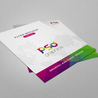 Flyer Mockup Free PSD Graphics