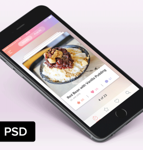 Food Recipe Free Mobile App PSD