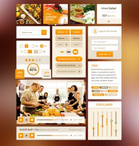 Food UI Kit PSD Freebie Pack