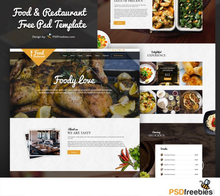 Food and Restaurant Website Free PSD Template yellow, www, Website Template, Website Layout, Website, webpage, Web Template, Web Resources, web page, Web Layout, Web Interface, Web Elements, Web Design, Web, User Interface, unique, UI, Template, Stylish, Simple, Shopping, Shop, restaurant website, restaurant online, restaurant menu, Restaurant, Resources, recipes, Quality, psdfreebies download, Psd Templates, PSD Sources, psd resources, PSD images, psd free download, psd free, PSD file, psd download, PSD, Premium, Portfolio, Photoshop, pack, original, order online, online shopping, online ordering, online order, online food, new, Modern, menucard, Menu, Lunch, Layered PSDs, Layered PSD, launch, Graphics, Fresh, freemium, Freebies, Freebie, Free Resources, Free PSD, free download, Free, food menu, food blog, Food, flat style, Flat, Exclusive, Elements, elegant, Drink, download psd, download free psd, Download, dining, diner, detailed, Design, Creative, cooking, cook, clean website, Clean Template, Clean Style, Clean, chief, chef, Cafe, builder, breakfast, Bar, bakery, Adobe Photoshop,