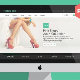 Fooseshoes eCommerce PSD Website Template