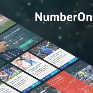 Football Club Web Template GUI PSD
