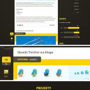 Blog Website Free PSD