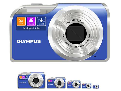 Digital Camera Icon PSD PSD, Objects, Layered PSDs, Icons, Electronics, Digital, Camera,