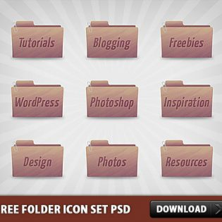 Free Folder Icon Set PSD