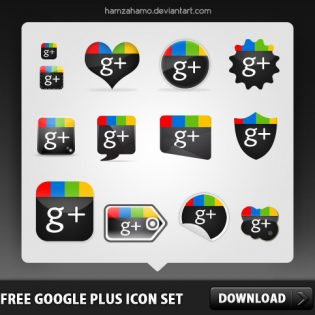 Free Google Plus Icon Set