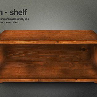 Free Icon Shelf PSD