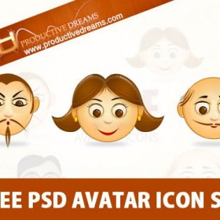 Free PSD Avatar Icon Set