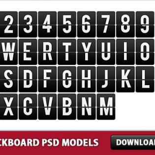 Free PSD Board Letters