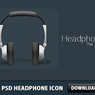 Free PSD Headphone Icon