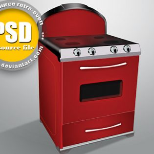 Free PSD Oven File