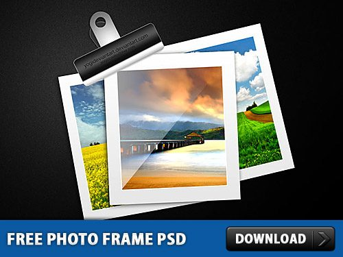 Download Free Free Photo Frame PSD at Downloadpsd.cc