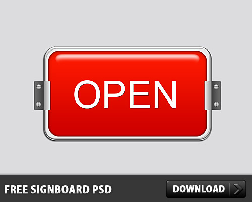 Signboard Free PSD