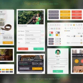 Free UI Kit PSD for Online Store