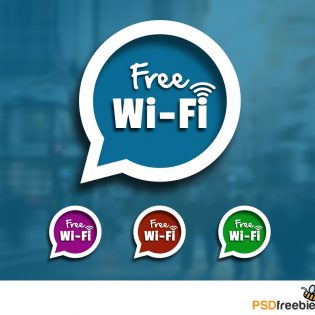Free Wifi Sign Speech Blurb Icon PSD