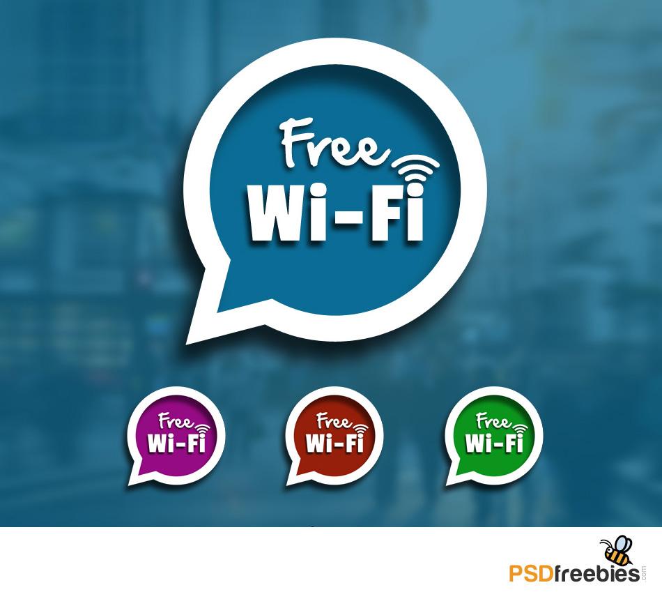 Free Wifi Sign Speech Blurb Icon PSD