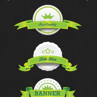 Free Ribbon PSD Set