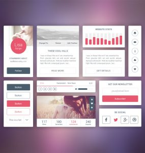 Fresh Premium UI Kit Free PSD