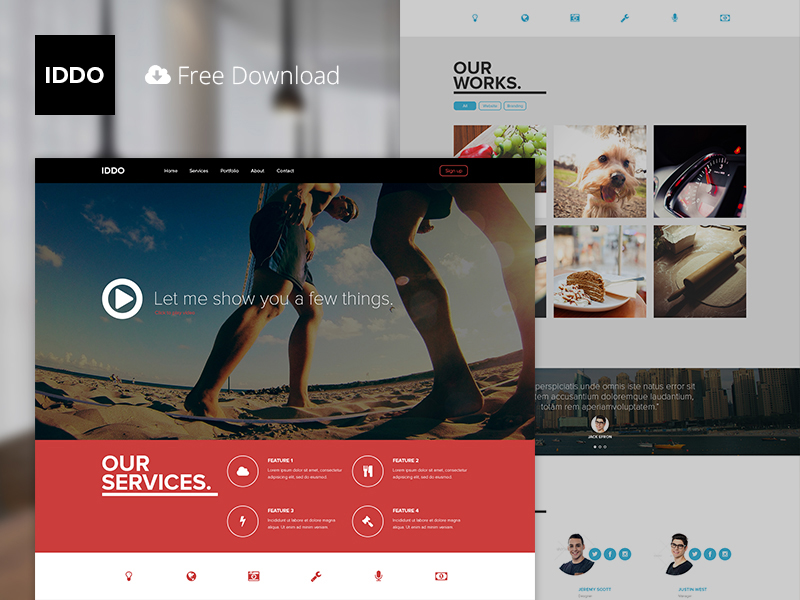Fresh and Professional Free PSD Template
