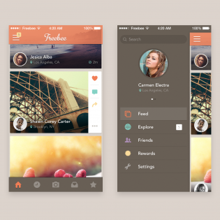 Full Mobile App Screens Free PSD Set