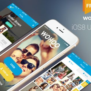 Full iOS8 UI Kit Templates Free PSD
