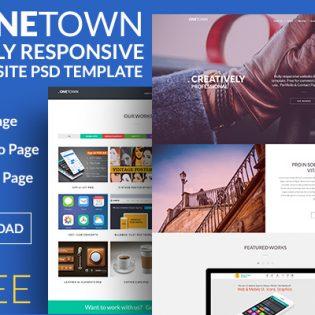 Fully Responsive Portfolio Website Template PSD