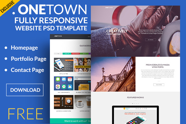 Fully Responsive Portfolio Website Template PSD