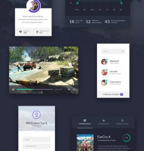 Game Application UI Kit Elements Free PSD widgets, welcome, Web Resources, Web Elements, Web Design Elements, Web, Video Player, user stats, User Profile, User Login, User Interface, ui set, ui kit, UI elements, UI, tabs, stats, Statistics, Sign In, Shop, Search, Resources, Rating, Psd Templates, PSD Sources, psd resources, PSD images, PSD Icons, psd free download, psd free, PSD file, psd download, PSD, Profile, Player, Photoshop, Mobile App, login screen, Login Panel, Login, Layered PSDs, Layered PSD, Interface, Icons, Icon PSD, Icon, GUI Set, GUI kit, GUI, Graphics, Graphical User Interface, graph, Gaming, gamer, gameing, Game, friends list, friends, Freebies, Freebie, Free Resources, Free PSD, Free Icons, Free Icon, free download, Free, Form, follower, Flat, Elements, download psd, download free psd, Download, Design Resources, Design Elements, Dark, Buy Now, Buy, application widget, Application, app ui, app psd, App GUI, App, Adobe Photoshop,